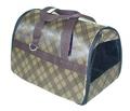 Fluk Сумка-переноска для собак и кошек №2 коричневая с карманом, 37х24х26см
