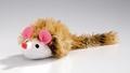 Beeztees Игрушка для кошек «Мышь плюшевая с длинным ворсом» 12*7см