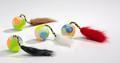 Beeztees Игрушка для кошек «Мяч пластмассовый с хвостом» 4,5*18см, 2шт в уп.