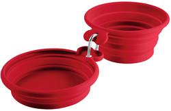 Hunter Миска для собак силиконовая складная List 350/750 мл, красная