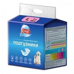 Cliny Подгузники для собак и кошек L 8-16кг 8шт