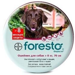 Bayer Форесто(Foresto) Ошейник для собак свыше 8кг от клещей, блох и вшей, защита 8 месяцев, 70см