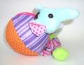 Chomper Игрушка Слон-мяч для щенков мягкая с пищалкой(нейлон, флис)