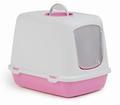 Beeztees Oscar Туалет-домик для кошек розовый, размер 50*37*39см