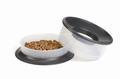 Beeztees Миска Picnic 2в1 для корма и воды, пластиковая антрацитовая 22*12см