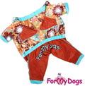ForMyDogs Дождевик коричневый, модель для девочек, размер 8,10