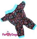 ForMyDogs Дождевик черно/голубой, модель для мальчиков, размер 8, 10,12