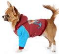 ForMyDogs Толстовка для собак из трикотажа, коричневая/голубая, размер №12, №16