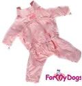 ForMyDogs Дождевик без капюшона, цвет розовый, модель для девочек, размер 18