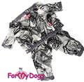 ForMyDogs Дождевик серый, модель для мальчиков, размер 8