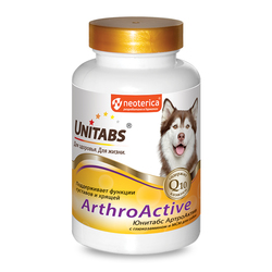 Unitabs ArtroActive с Q10 для собак при болезнях суставов 100таб