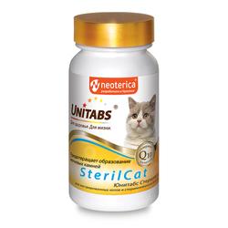 Unitabs Витамины SterilCat с Q10 для кастрированных котов и стерилизованных кошек кошек 120 таб.