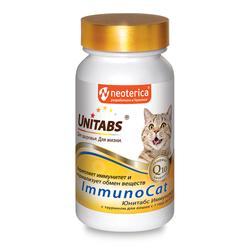 Unitabs Витамины ImmunoCat для кошек для повышения иммунитета и нормализации обмена веществ, 120 таб