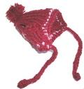 Шапочка вязанная бордовая, размер М