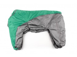 ZooAvtoritet Комбинезон для крупных собак зеленый/серый, размер 8XL, спина 75см