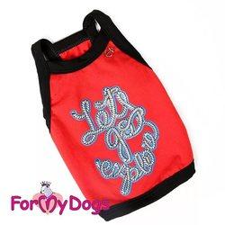 ForMyDogs Майка для собак трикотажная красная, размер 18