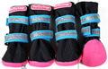 ForMyDogs Сапоги для больших собак из непромокаемой двухслойной ткани на резиновой подошве, черно/голубые, размер №7