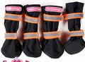 ForMyDogs Ботиночки-сапожки для собак из непромокаемого нейлона, цвет черный с оранжевым, размер №4, №5