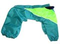Бобровый дворик Дождевик для пуделя зеленый, модель для мальчика, спина 28см