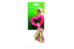 """Beeztees Игрушка для собак """"Любящее сердце"""" розовое, TPR 8см"""