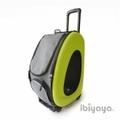 IBBI Сумка-тележка складная 3 в 1(сумка, рюкзак, тележка) лайм