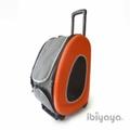 IBBI Сумка-тележка складная 3 в 1(сумка, рюкзак, тележка) оранжевая