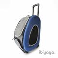 IBBI Сумка-тележка складная 3 в 1(сумка, рюкзак, тележка) синяя