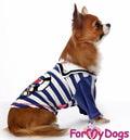 ForMyDogs Толстовка для собак трикотажная с велюровыми рукавами, размер 8