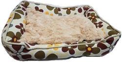 FAUNA INT Лежак для кошек и собак AMSTERDAM, х/б, мех, размер 52х42х10см
