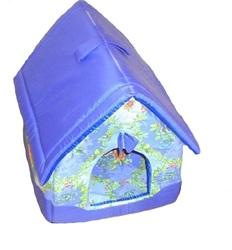 DOGMAN Лежак Домик для собак и кошек сиреневый микс, 40х40х42см