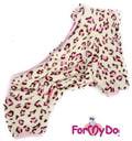 """ForMyDogs Комбинезон из тонкого меха """"Лео"""", размер 16, 18, 20, модель для девочек"""