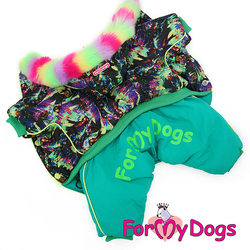 ForMyDogs Комбинезон для собак на синтепоне и меховой подкладке, для девочек, размер 16