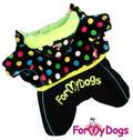 ForMyDogs Комбинезон из мягкого материала на меховой подкладке, модель для девочек, размер 8