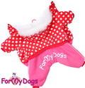 ForMyDogs Комбинезон из мягкого материала на меховой подкладке, модель для девочек, размер 12