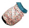 Fluk Куртка-жилетка двухсторонняя бирюза/цветы, размер 12