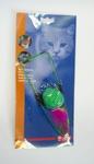 Nobby Игрушка для кошек Мячик на резинке, мех, перья