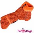 ForMyDogs Комбинезон теплый для собак породы такса, цвет рыжий, модель для девочек, размер ТС2