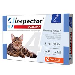 Экопром Инспектор Капли Квадро для кошек от 1кг до 4кг от внешних и внутренних паразитов