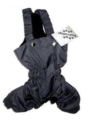 ZooPrestige Брюки для собак, утепленные, черный цвет, на флисе, размер S, M