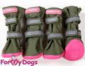 ForMyDogs Сапоги для крупных пород собак, цвет хакки, на резиновой подошве, размер №5, №7