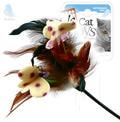 GiGwi Игрушка для кошек Дразнилка с перьями на стеке
