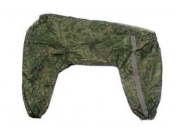 ZooPrestige Дождевик для крупных пород собак, зеленый пиксель, размер 8XL, спина 75см