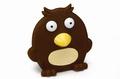 """Beeztees Игрушка для собак """"Птица плоская"""" коричневая, винил 14см"""