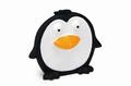 """Beeztees Игрушка для собак """"Пингвин плоский"""" черный, винил 14см"""