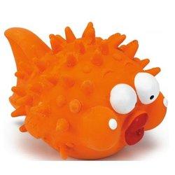 """Beeztees Игрушка для собак """"Рыба-шар"""" оранжевая, латекс 15см"""