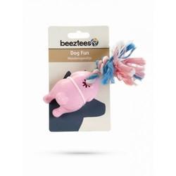 """Beeztees Игрушка для собак """"Курица жареная на канате"""" розовая, TPR 16см"""