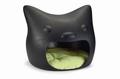 Beeztees Домик для кошек Кошачья голова, черная 58*56*49см