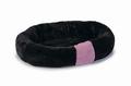 Beeztees Лежанка для кошек и собак черная плюшевая 50*41*9,5см