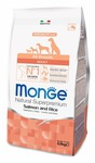 MONGE Dog Speciality корм для собак всех пород лосось с рисом, сух.