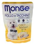 MONGE Dog Grill Pouch паучи для собак курица с индейкой 100 г
